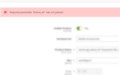 Solved: How to fix required parameter 'theme_dir' was not passed?